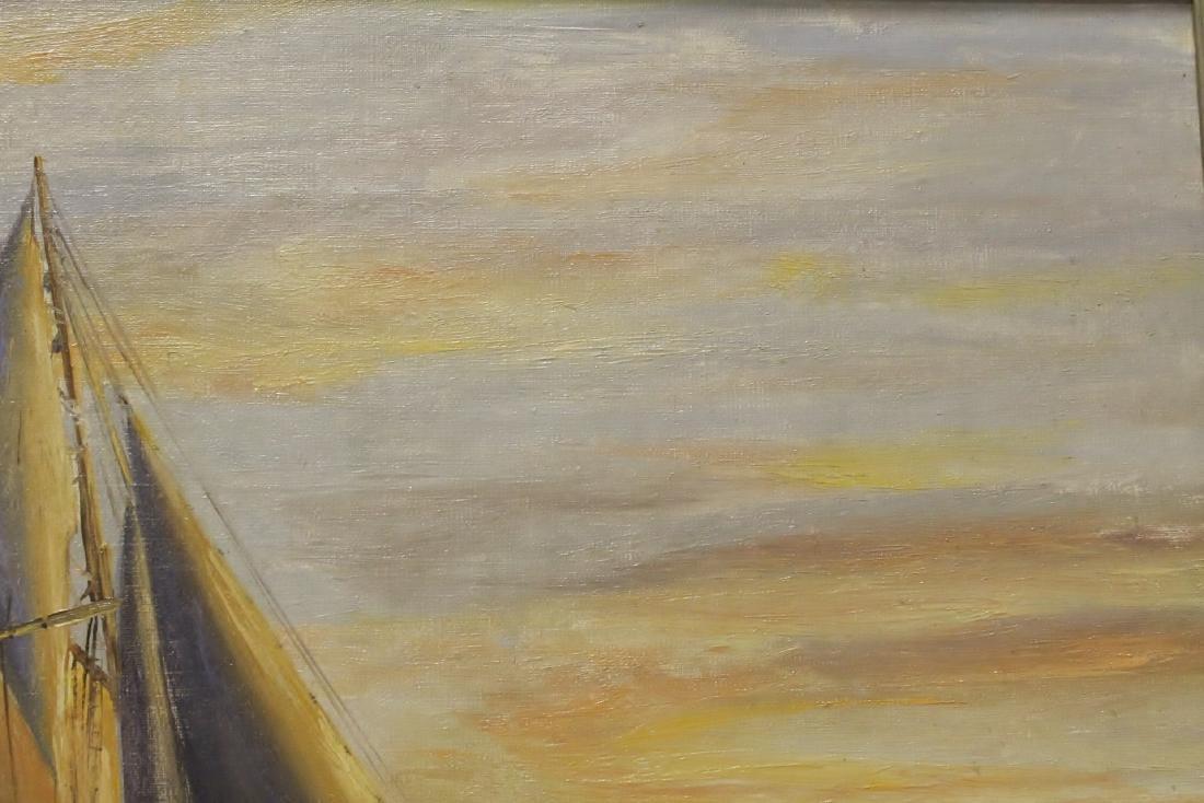 "O/b ""seascape with sail"" - 9"