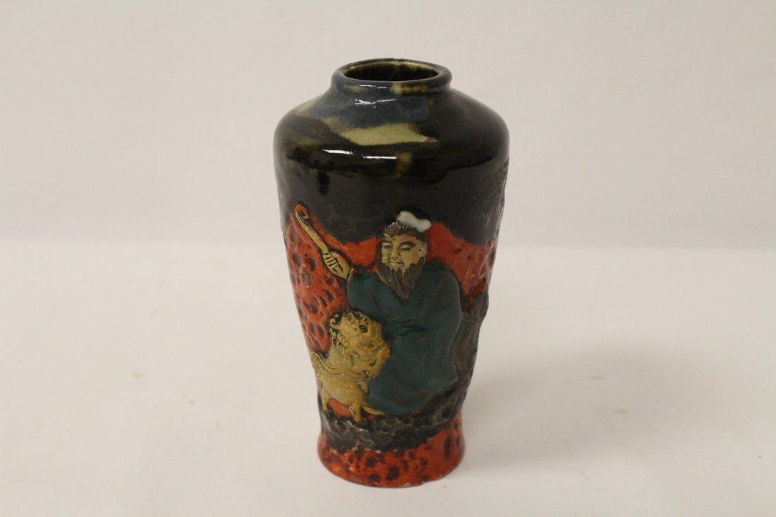 2 antique Japanese sumidagawa vases - 7