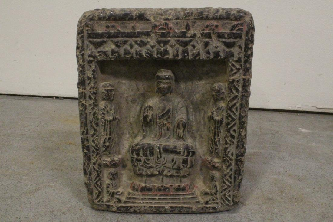 Chinese stone carved plaque - 10