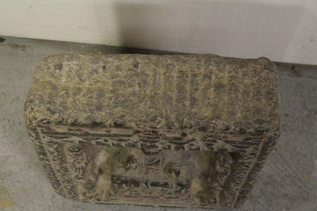 Chinese stone carved plaque - 2