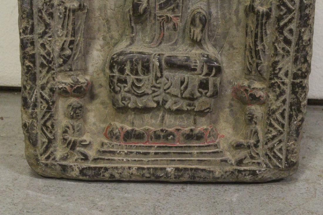 Chinese stone carved plaque - 5