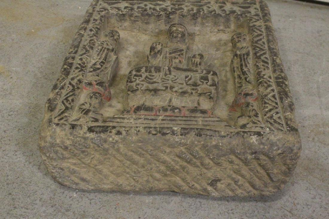 Chinese stone carved plaque - 9