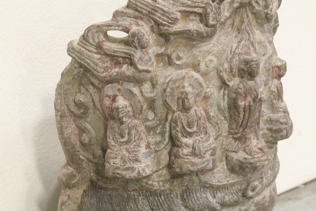 Chinese vintage stone carved Buddha head - 7