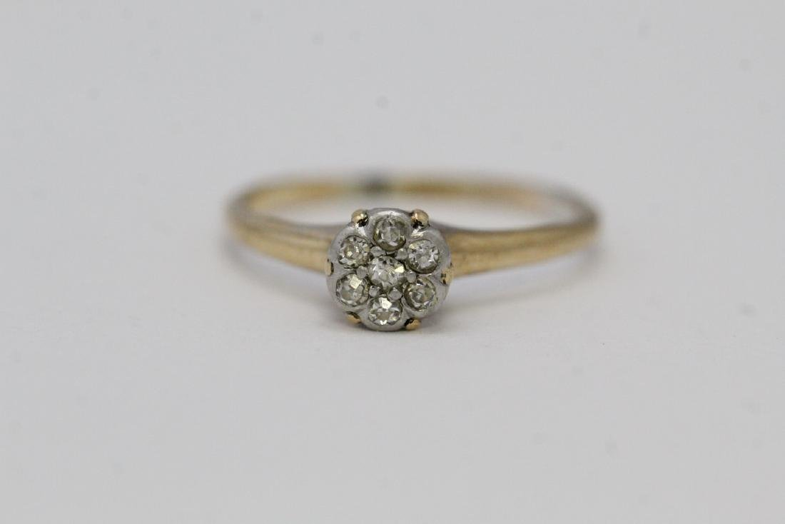 Victorian 14K Y/G diamond ring