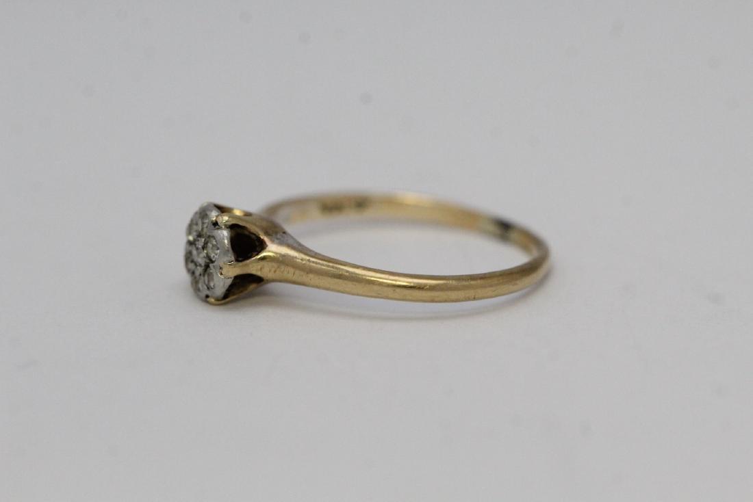 Victorian 14K Y/G diamond ring - 2