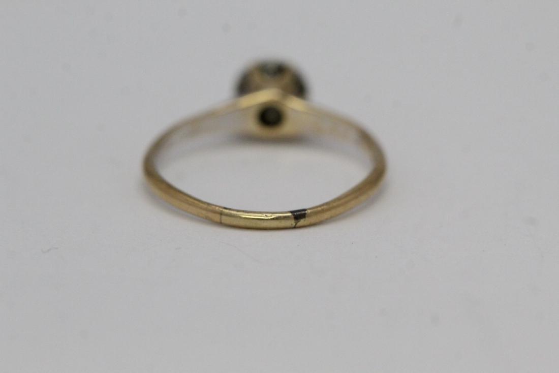 Victorian 14K Y/G diamond ring - 3