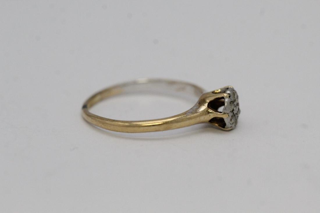 Victorian 14K Y/G diamond ring - 4