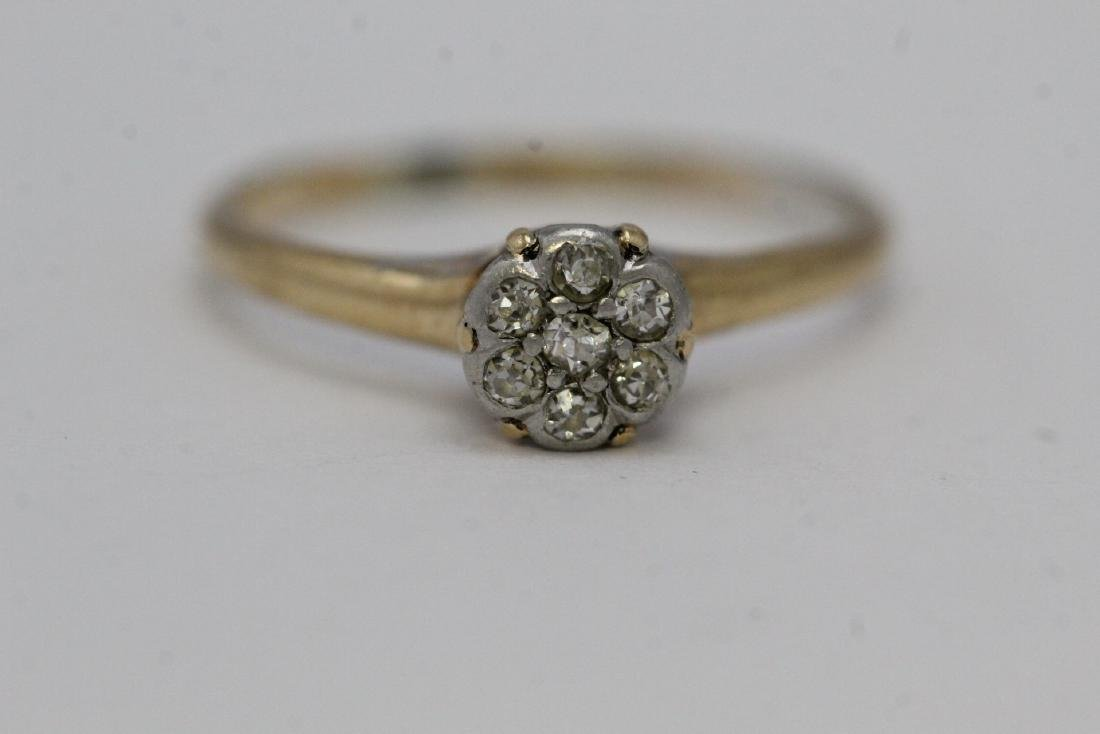 Victorian 14K Y/G diamond ring - 5