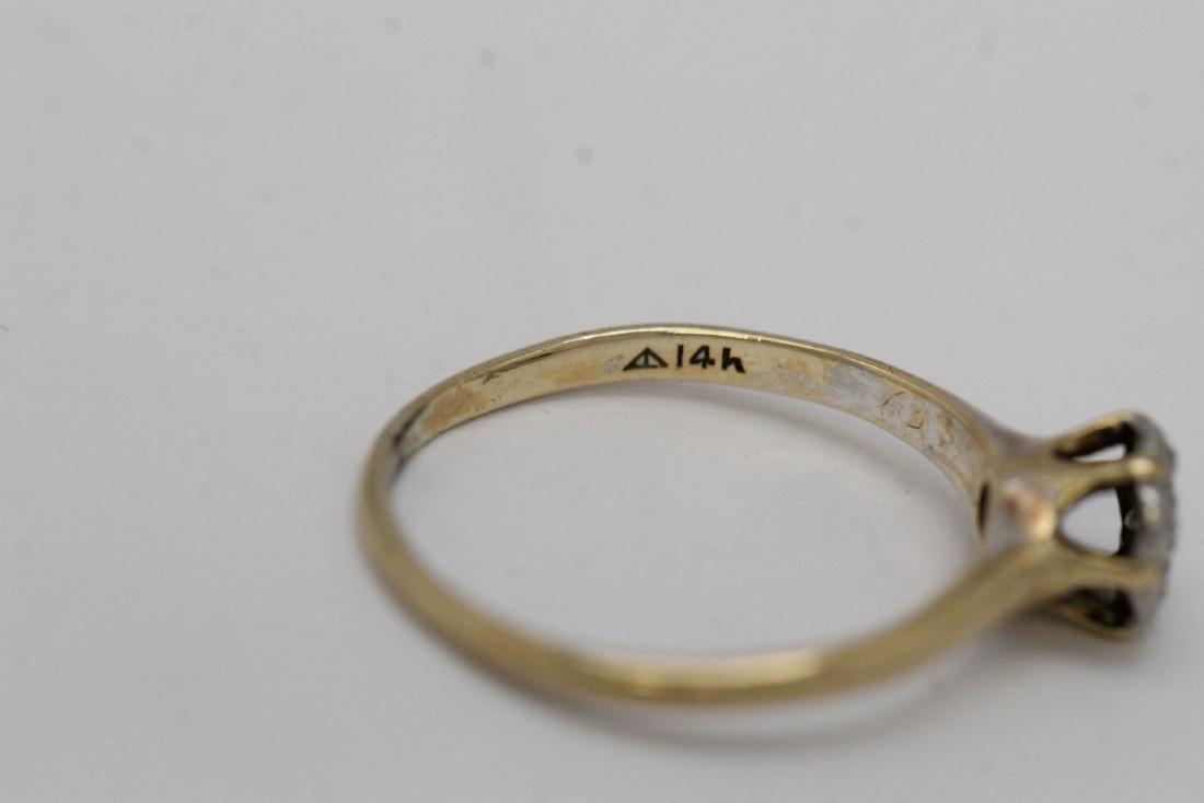 Victorian 14K Y/G diamond ring - 7
