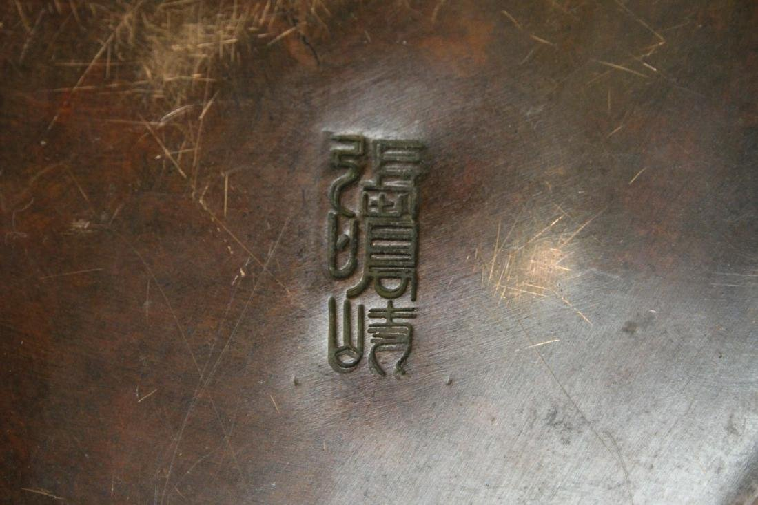 Chinese bronze hand censer - 10