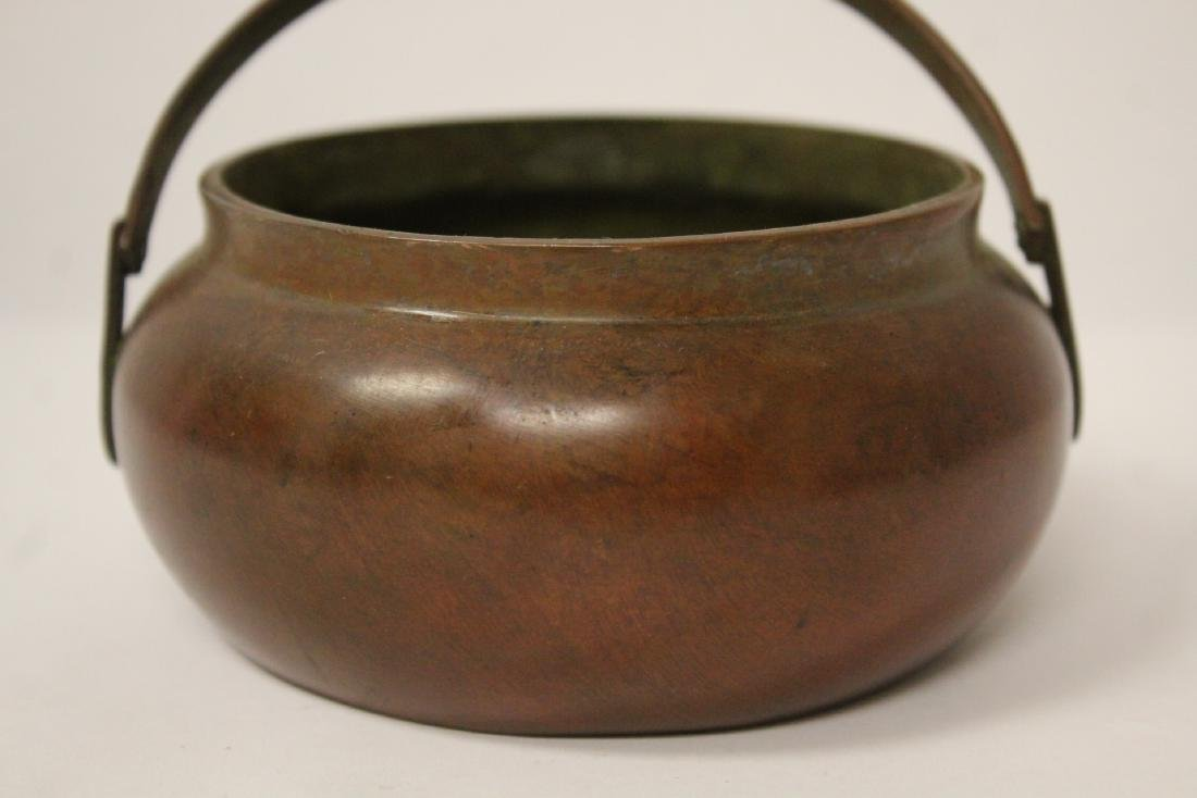 Chinese bronze hand censer - 6