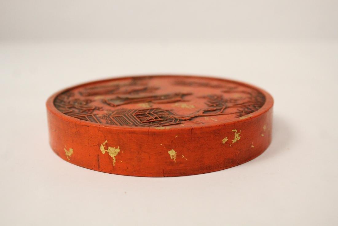 Chinese red round ink stick(?) - 3