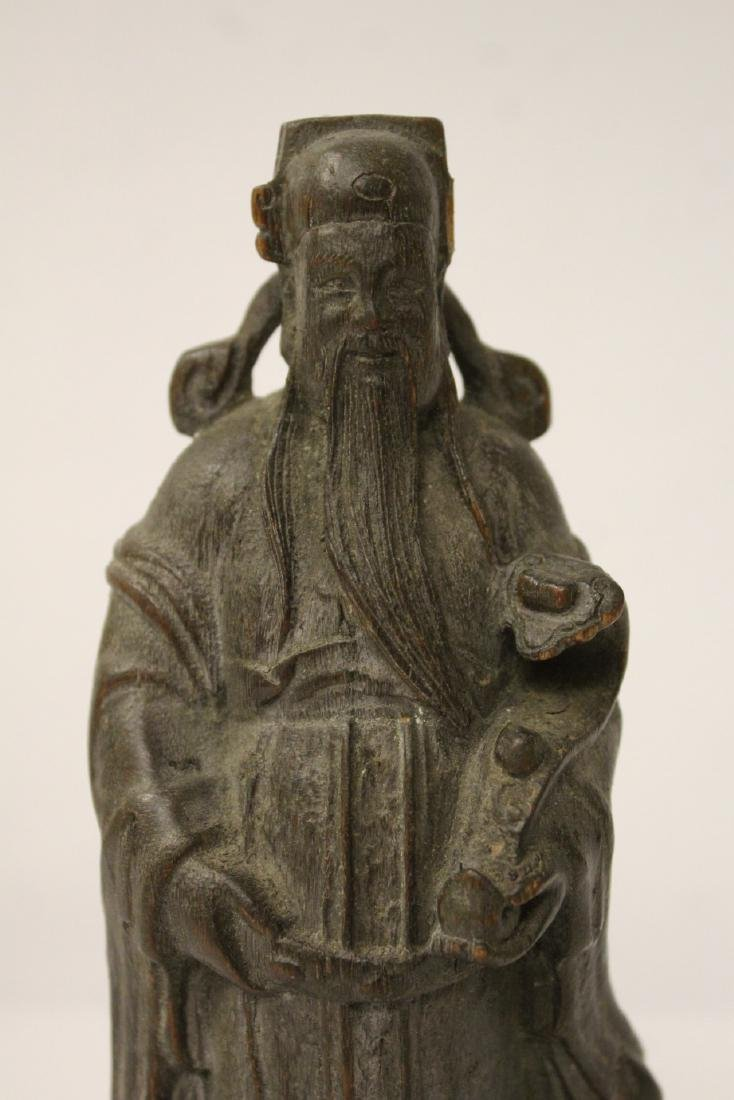 Fine Chinese rosewood carved figure - 3