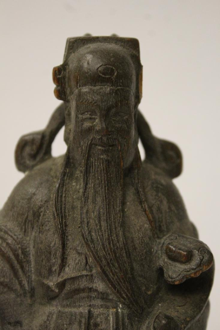 Fine Chinese rosewood carved figure - 4