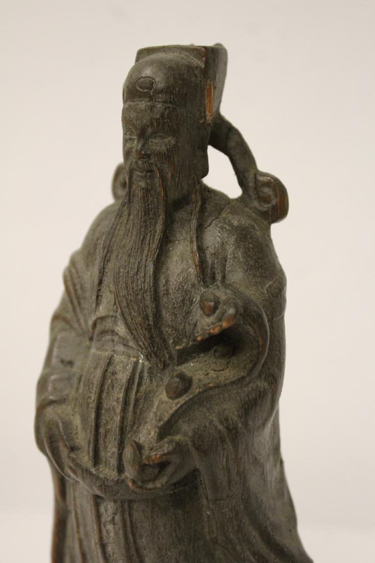 Fine Chinese rosewood carved figure - 5