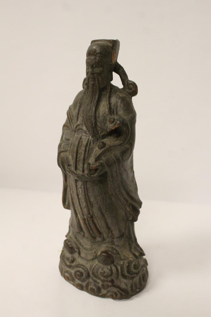 Fine Chinese rosewood carved figure - 6