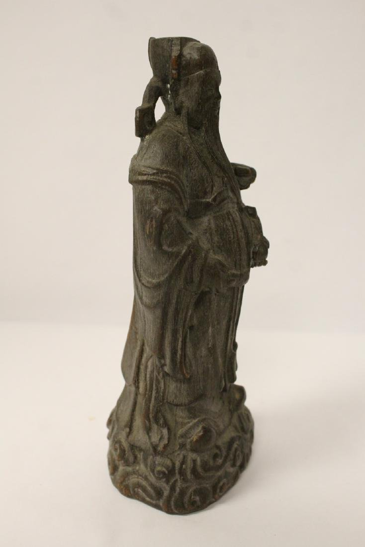 Fine Chinese rosewood carved figure - 7