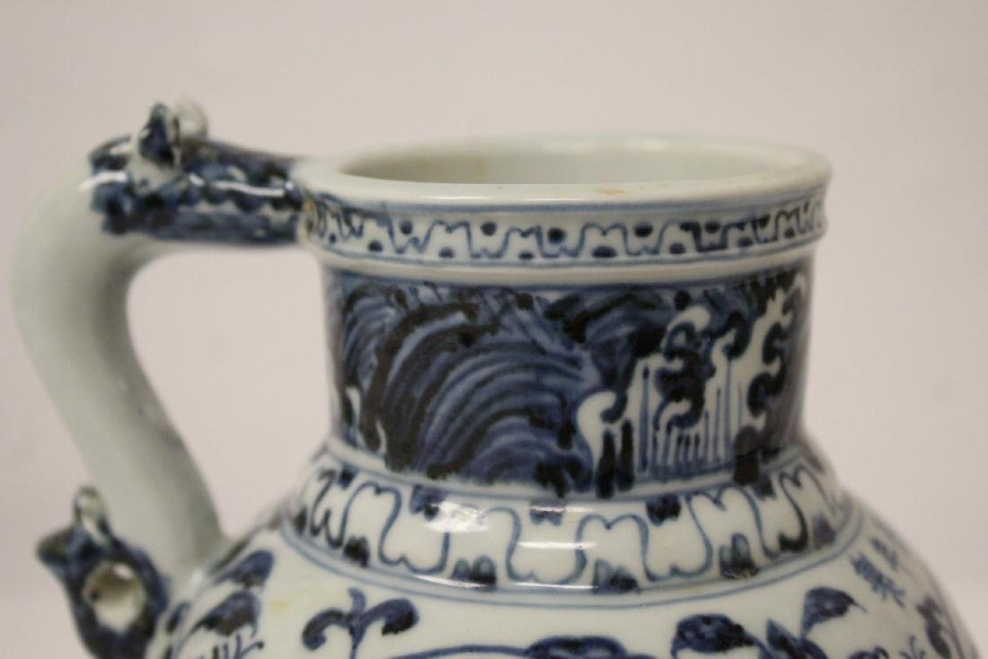 Chinese blue and white pitcher - 6