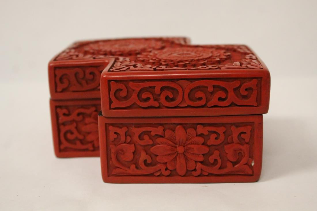 Unusual Chinese cinnabar box - 3