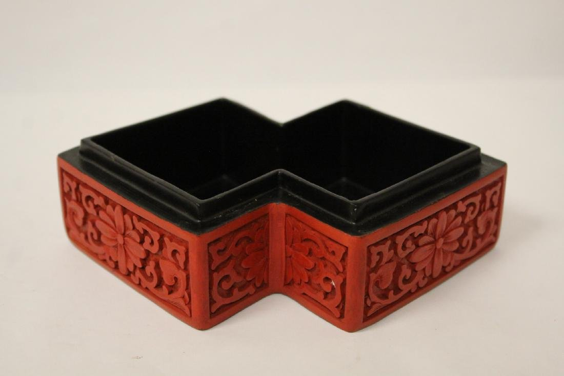 Unusual Chinese cinnabar box - 7