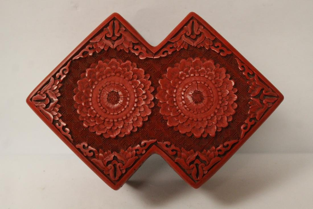 Unusual Chinese cinnabar box - 8