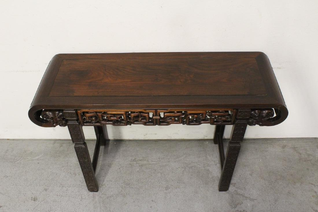 Chinese rosewood scroll table - 2