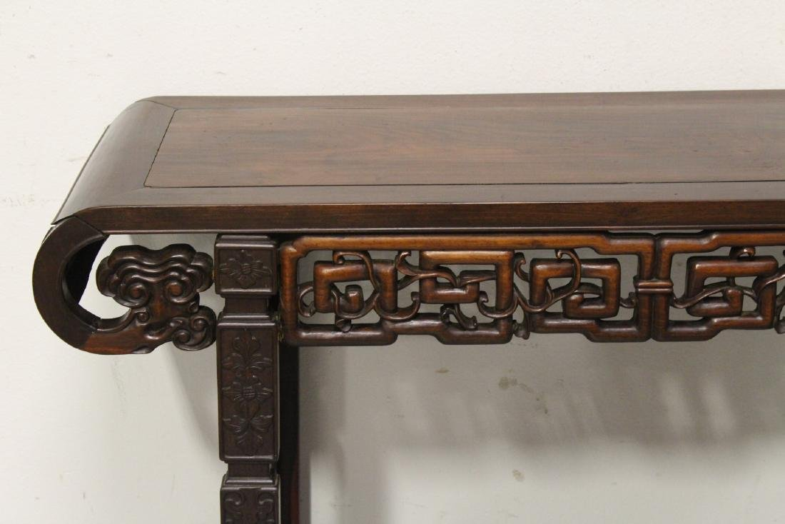 Chinese rosewood scroll table - 3
