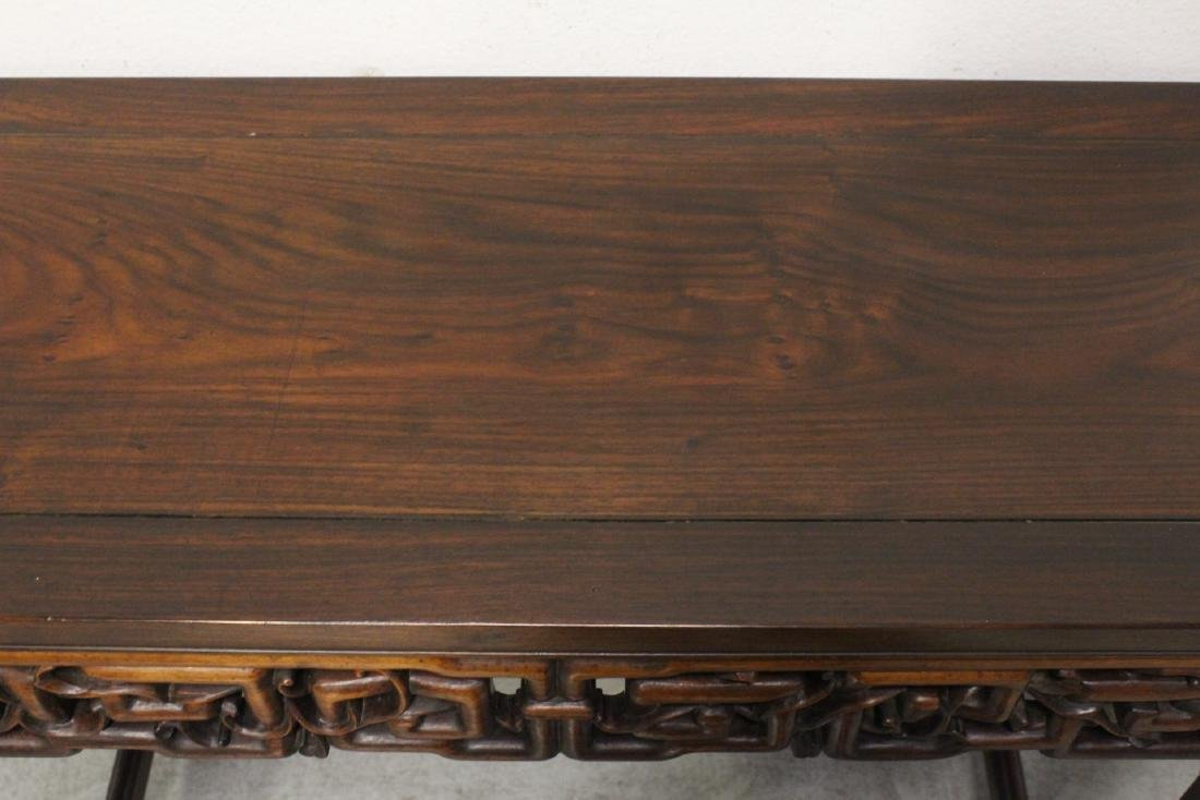 Chinese rosewood scroll table - 6