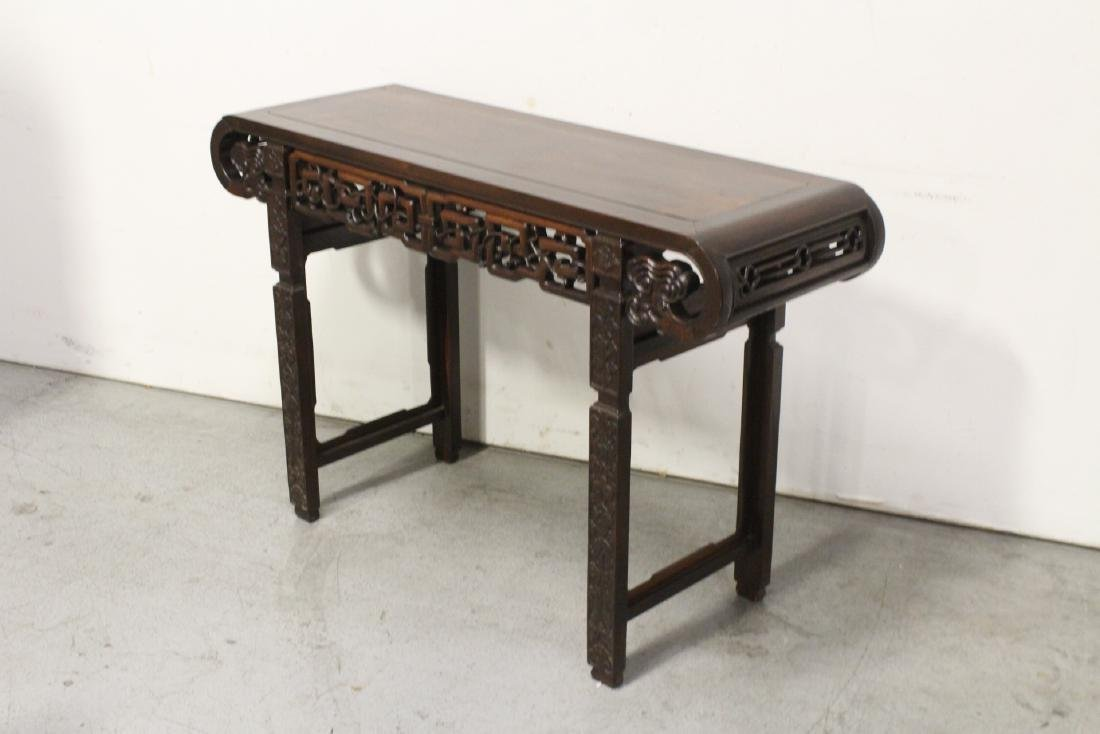 Chinese rosewood scroll table - 7