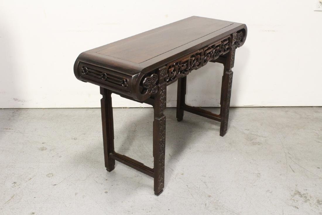 Chinese rosewood scroll table - 8