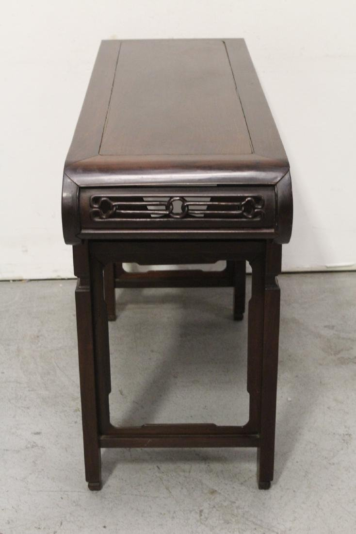Chinese rosewood scroll table - 9