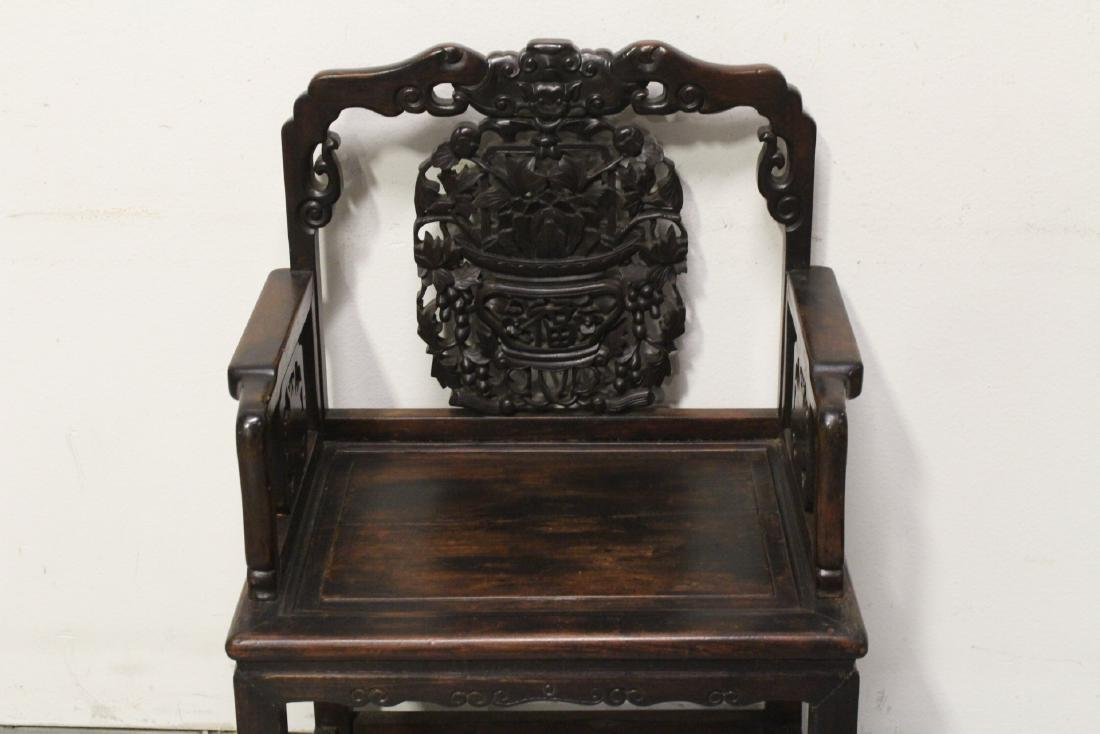 Chinese antique rosewood armchair - 3