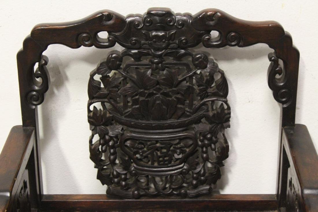 Chinese antique rosewood armchair - 4