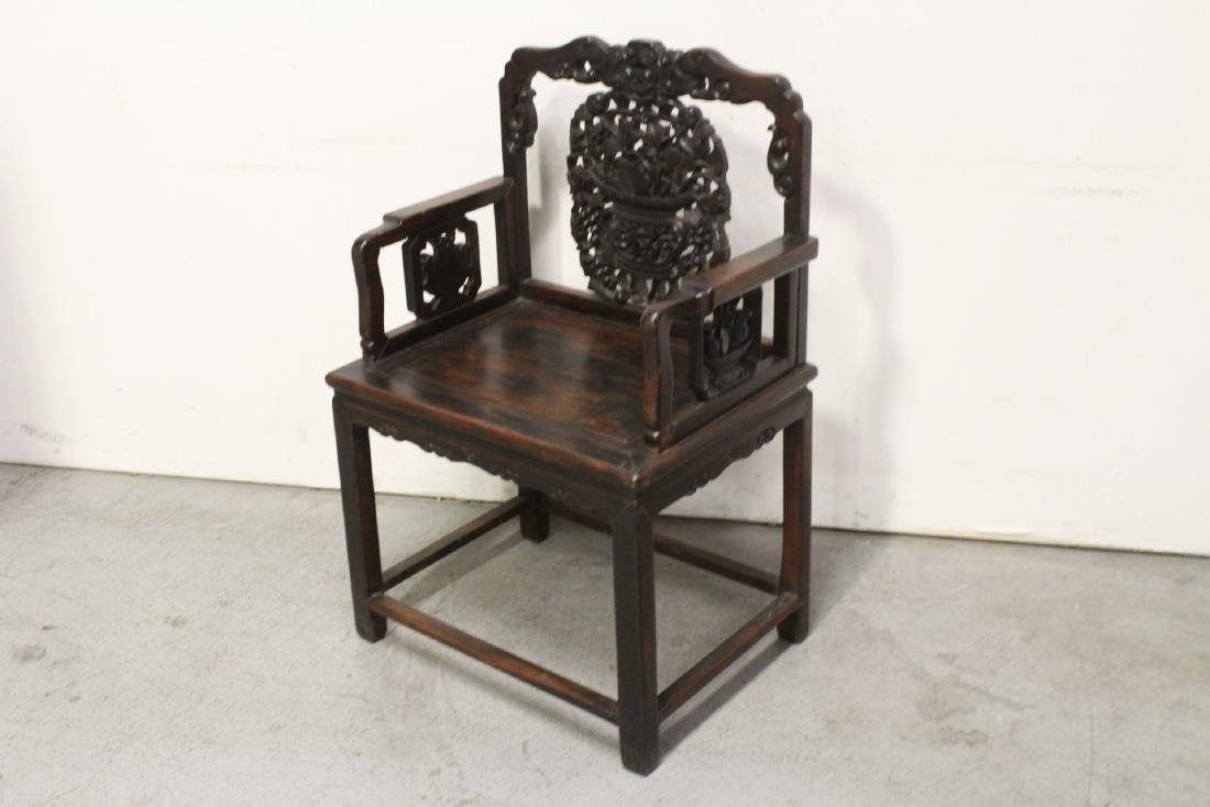 Chinese antique rosewood armchair - 5
