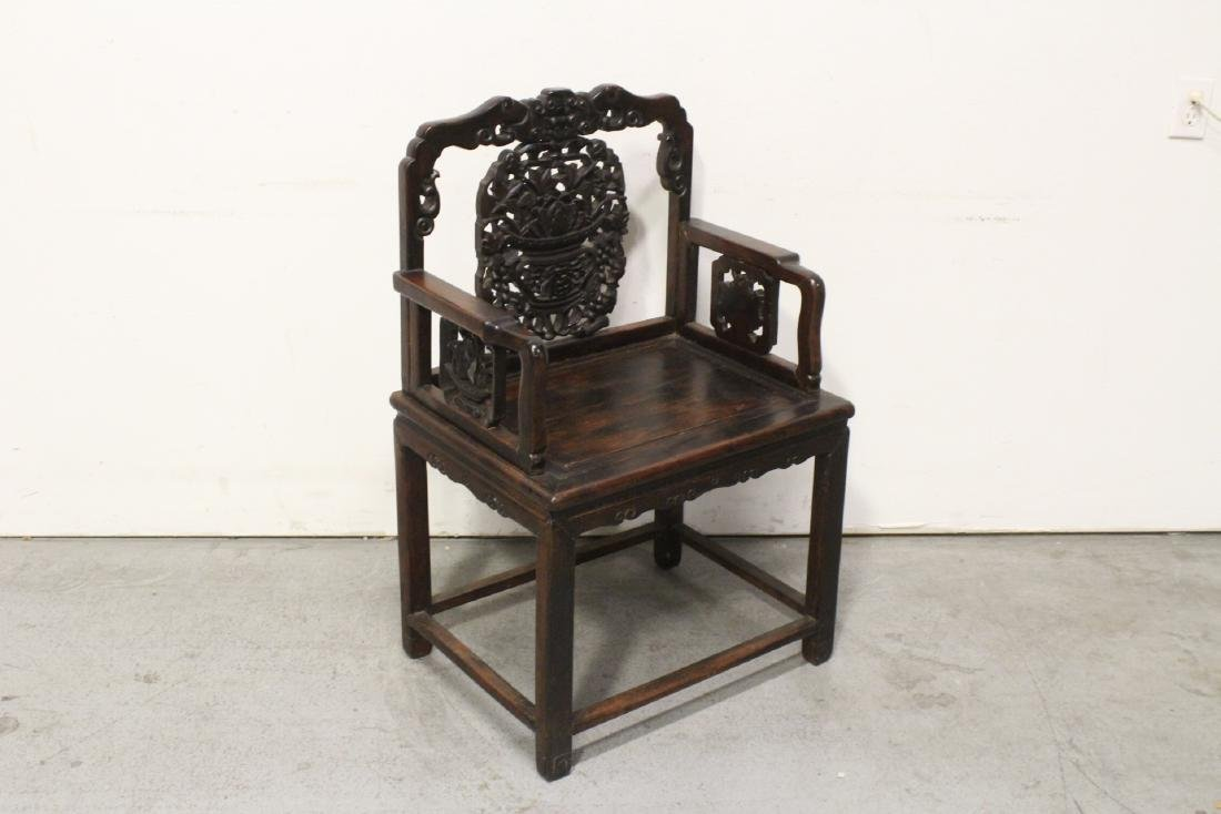 Chinese antique rosewood armchair - 6