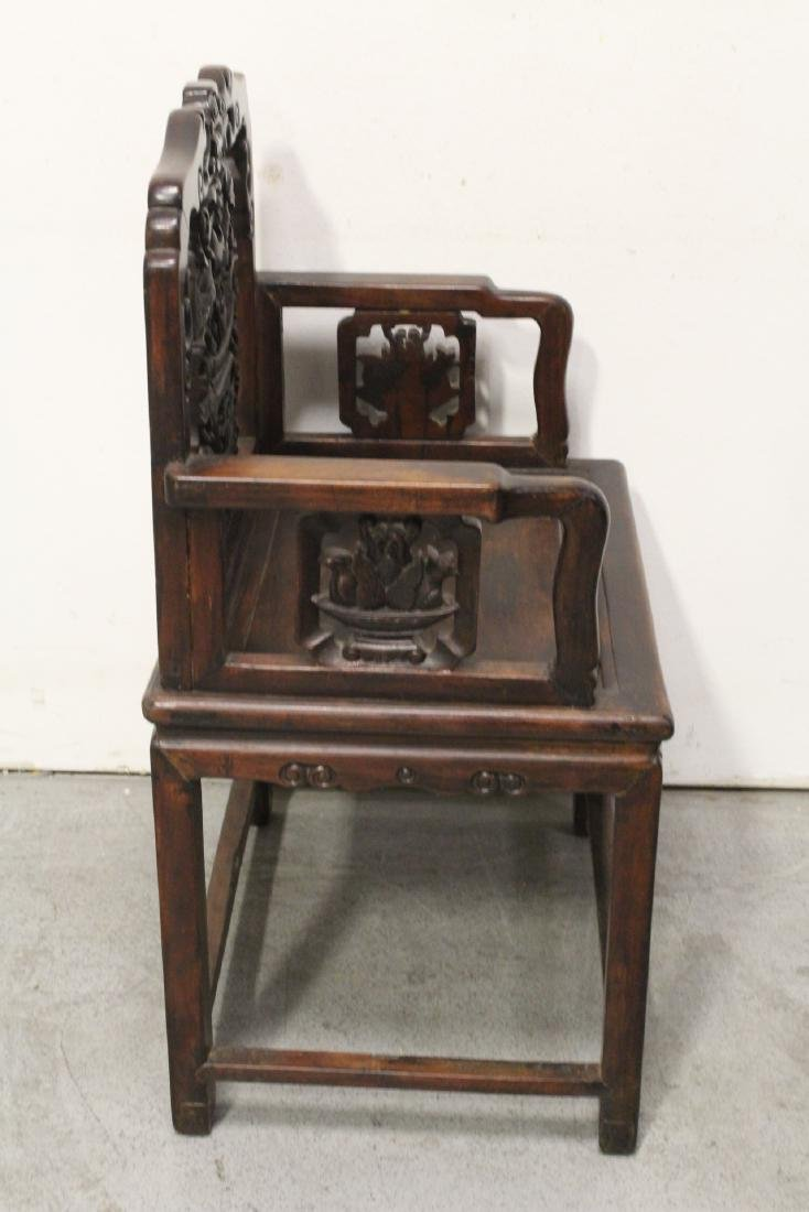 Chinese antique rosewood armchair - 7
