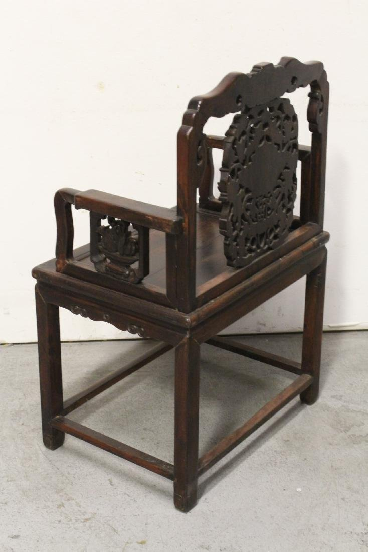 Chinese antique rosewood armchair - 9