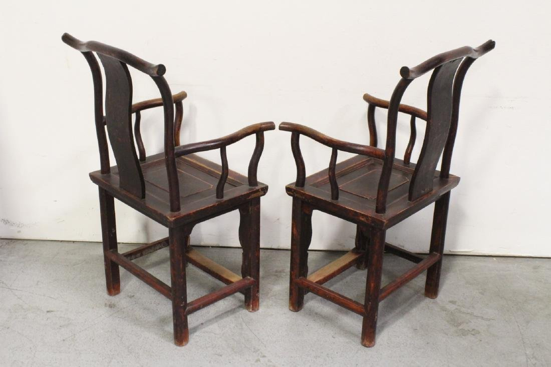 Pair Chinese 18th/19th century armchairs - 5