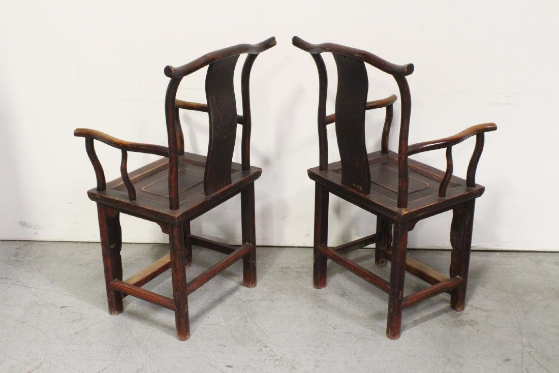 Pair Chinese 18th/19th century armchairs - 7
