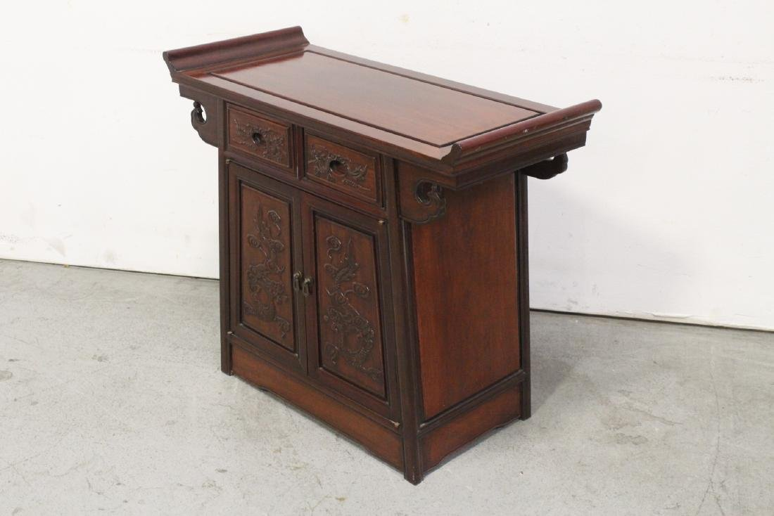 Rosewood console table - 6