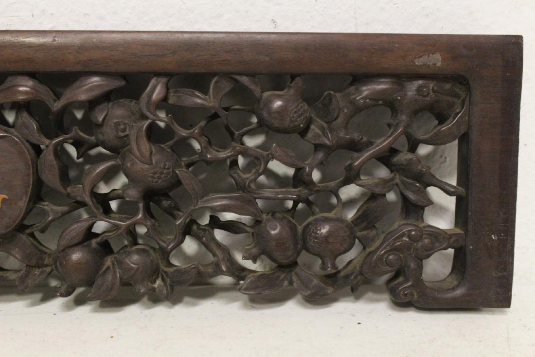 Chinese rosewood carving w/ huangyang wood overlay - 4