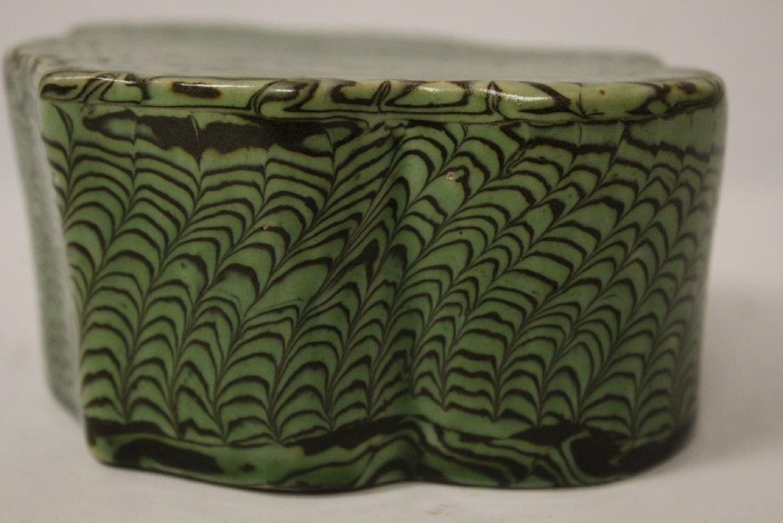 Chinese green marbled pillow - 10