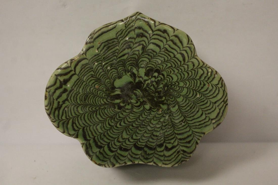 Chinese green marbled pillow - 6