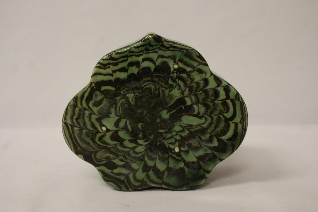 Chinese green marbled pillow - 9