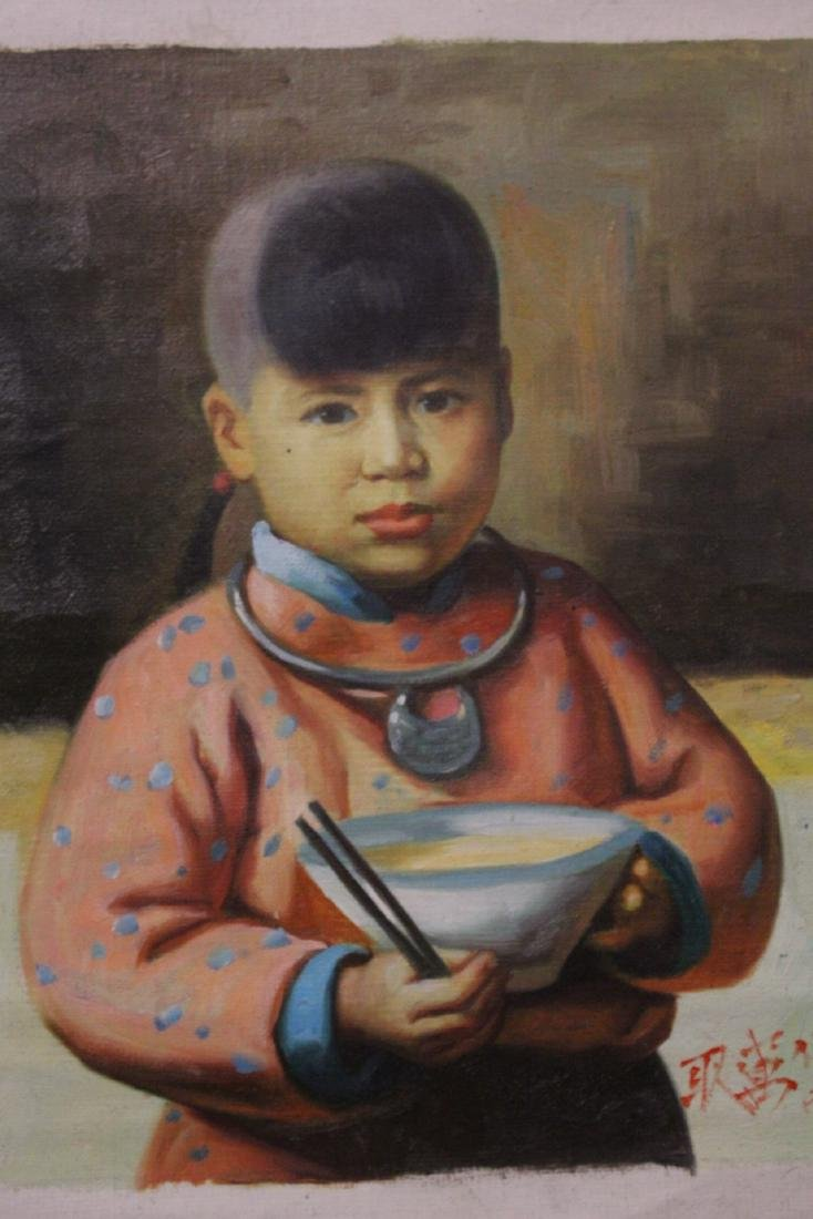 4 oil paintings; 3 portraits, and one still life - 8
