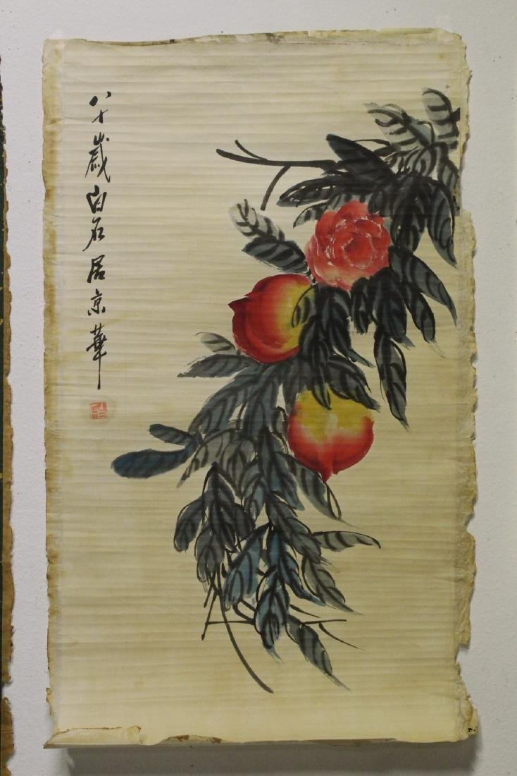 5 Chinese watercolor and calligraphy panels - 5