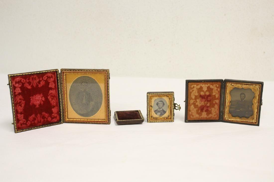 3 Victorian tintype photos
