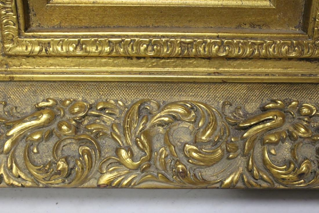 very beautiful oil on panel painting with gilt frame - 10