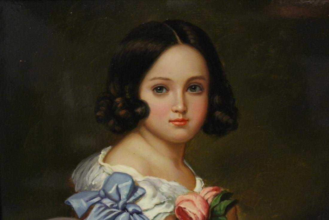 very beautiful oil on panel painting with gilt frame - 6