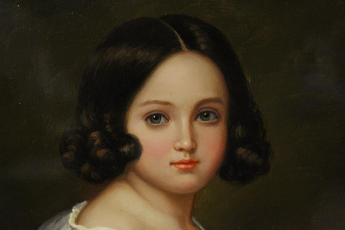 very beautiful oil on panel painting with gilt frame - 8
